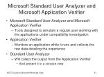 microsoft standard user analyzer and microsoft application verifier