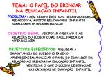 tema o papel do brincar na educa o infantil