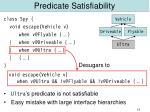 predicate satisfiability