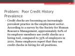problem poor credit history prevalence