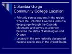 columbia gorge community college location