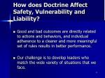 how does doctrine affect safety vulnerability and liability