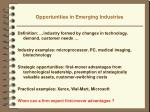 opportunities in emerging industries