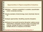 opportunities in hypercompetitive industries