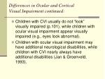 differences in ocular and cortical visual impairment continued3