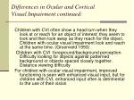 differences in ocular and cortical visual impairment continued4