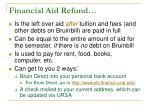 financial aid refund