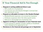 if your financial aid is not enough