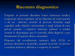 riscontro diagnostico