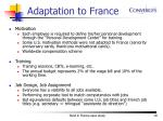 adaptation to france19