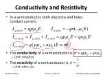 conductivity and resistivity