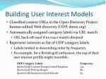 building user interest models