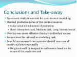 conclusions and take away