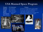 usa manned space program