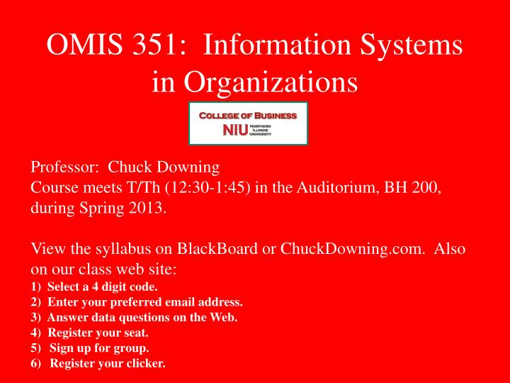 omis 351 information systems in organizations n.