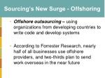 sourcing s new surge offshoring