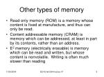 other types of memory