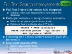 full text search improvements