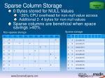 sparse column storage
