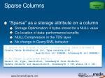 sparse columns