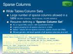 sparse columns1