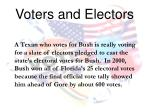 voters and electors