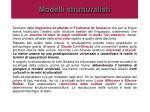 modelli strutturalisti