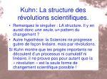 kuhn la structure des r volutions scientifiques