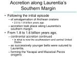 accretion along laurentia s southern margin