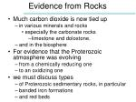 evidence from rocks