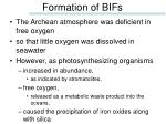 formation of bifs
