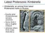 latest proterozoic kimberella