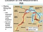 location of the midcontinent rift
