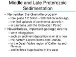 middle and late proterozoic sedimentation