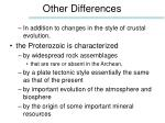 other differences