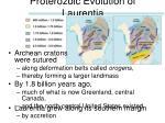 proterozoic evolution of laurentia