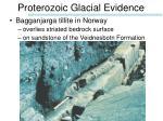 proterozoic glacial evidence