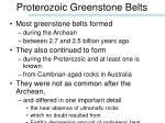 proterozoic greenstone belts
