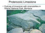 proterozoic limestone