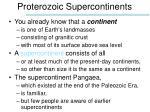 proterozoic supercontinents