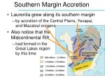 southern margin accretion