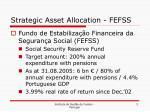 strategic asset allocation fefss