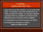 constats application des lois