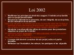loi 2002