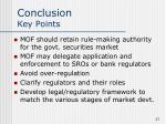 conclusion key points1