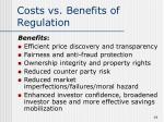 costs vs benefits of regulation