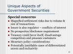 unique aspects of government securities