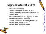 appropriate er visits