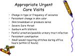 appropriate urgent care visits1