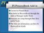 pi processbook add in1